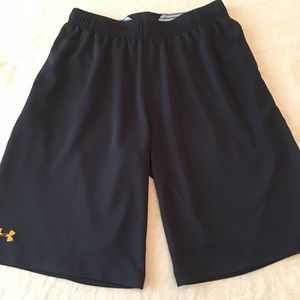 Black and gray Under Armour shorts